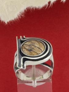 Сребърен пръстен - RK73 - Ландшафт Яспис