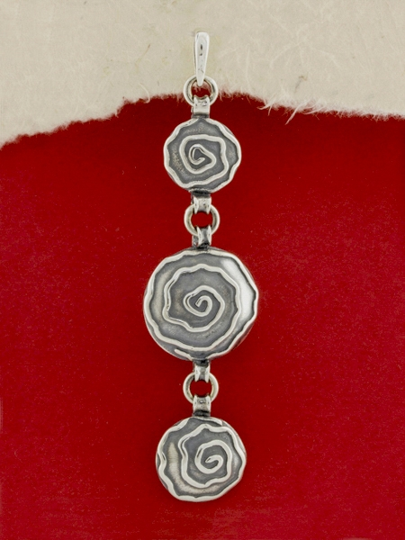 Сребърен медальон - PK366_B