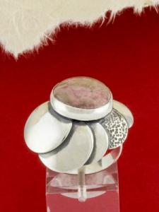Сребърен пръстен - RKWS44 - Родонит