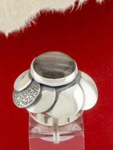 Сребърен пръстен - RKWS44 - Сребрист Обсидиан