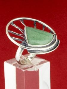 Сребърен пръстен - RKWS59 - Авантюрин