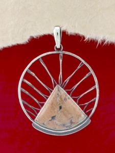Стебърен медальон - PKWS59 - Брекча Яспис
