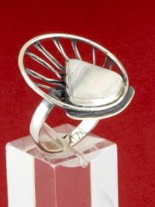 Сребърен пръстен - RKWS59 - Ивичест Ахат