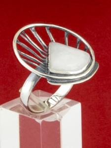 Сребърен пръстен - RKWS59 - Млечен Кварц