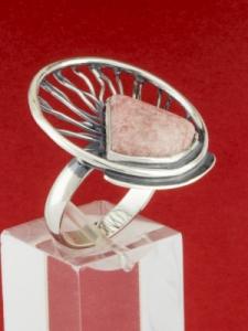 Сребърен пръстен - RKWS59 - Родонит