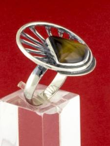Сребърен пръстен - RKWS59 - Тигрово Око