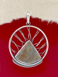 Сребърен медальон - PKWS59 - Унакит