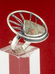 Сребърен пръстен - RKWS59 - Унакит