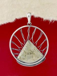 Сребърен медальон - PKWS59 - Вогесит