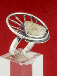 Сребърен пръстен - RKWS59 - Вогесит