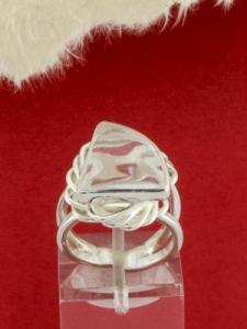 Сребърен пръстен - RKWS60 - Планински Кристал