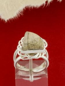 Сребърен пръстен - RKWS60 - Вогесит