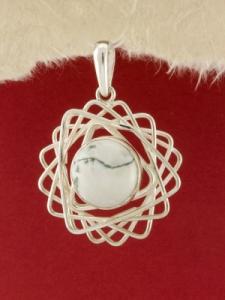 Сребърен медальон - PKWS61 - Дендрит Ахат