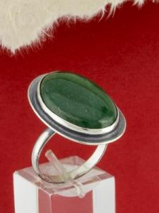 Сребърен пръстен - RKWS62 - Авантюрин