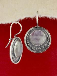 Сребърни обеци - EKWS63 - Аметист