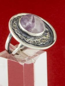 Сребърен пръстен - RKWS63 - Аметист