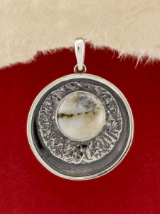 Сребърен медальон - PKWS63 - Дендрит Ахат