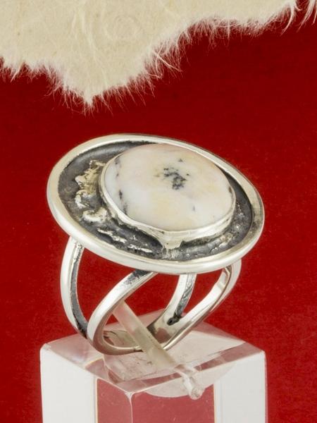 Сребърен пръстен - RKWS63 - Дендрит Ахат