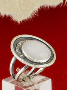 Сребърен пръстен - RKWS63 - Млечен Кварц