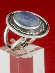 Сребърен пръстен - RKWS63 - Син Кварц