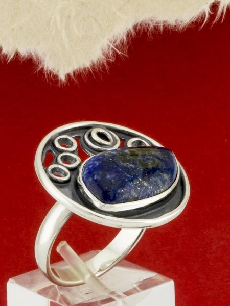 Сребърен пръстен - RKWS64 - ЛАЗУРИТ