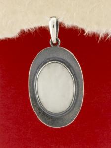 Сребърен медальон - PKWS62 - Млечен Кварц