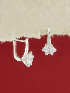 Сребърни обеци -  EK335