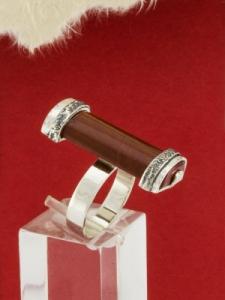 Сребърен пръстен - RKWS74 - Червен Яспис