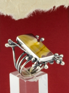 Сребърен пръстен - RKWS75 - Мокаит