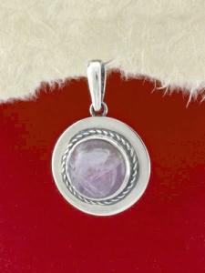 Сребърен медальон - PKWS77 - Аметист