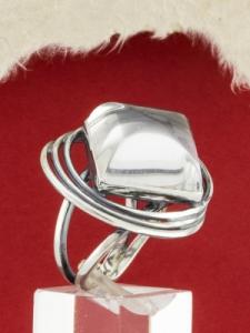 Сребърен пръстен -  RKWS81 - Планински Кристал