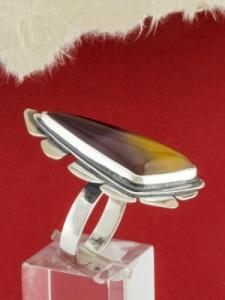 Сребърен пръстен - RKWS85 - Мокаит