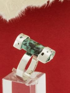 Сребърен пръстен - RKWS74 - Африкански тюркоаз