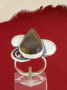 Сребърен пръстен - RKWS80 - Мокаит