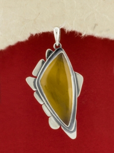 Сребърен медальон - PKWS87 -Мокаит