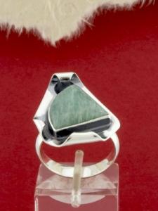 Сребърен пръстен - RKWS89 - Амазонит