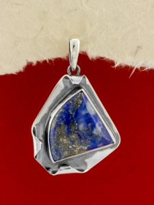 Сребърен медальон - PKWS89 - Лазурит