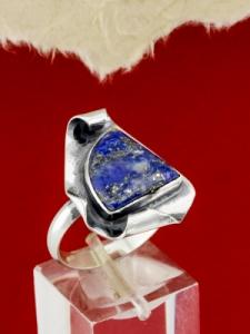 Сребърен пръстен - RKWS89 - Лазурит