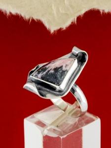 Сребърен пръстен - RKWS89 - Родонит