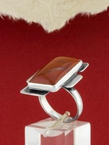Сребърен пръстен - RKWS95 - Червен Яспис