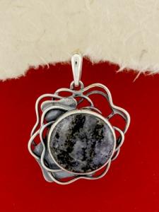 Сребърен медальон - PKWS97 - Кордиерит