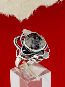 Сребърен пръстен - RKWS97 - Кордиерит
