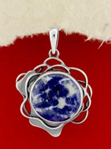 Сребърен медальон - PKWS97 - Содалит