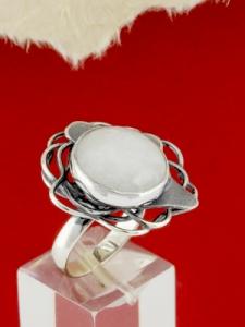 Сребърен пръстен - RKWS97 - Млечен Кварц