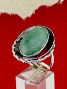 Сребърен пръстен - RKWS98 - Авантюрин