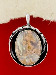 Сребърен медальон - PKWS98 - Брекча Яспис