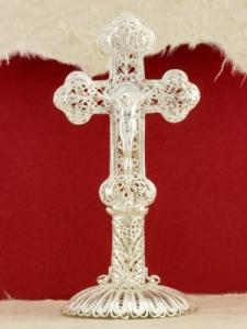 Сребърен филигранен кръст -S111CROSS