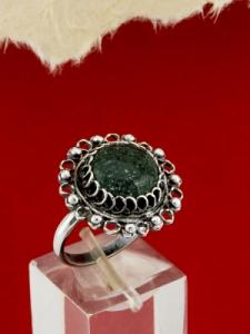 Сребърен филигранен пръстен - STR153 - Мъхов Ахат