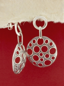 Сребърни обеци - E131793