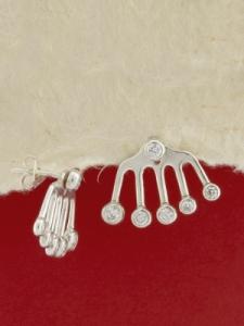 Сребърни обеци - E138253